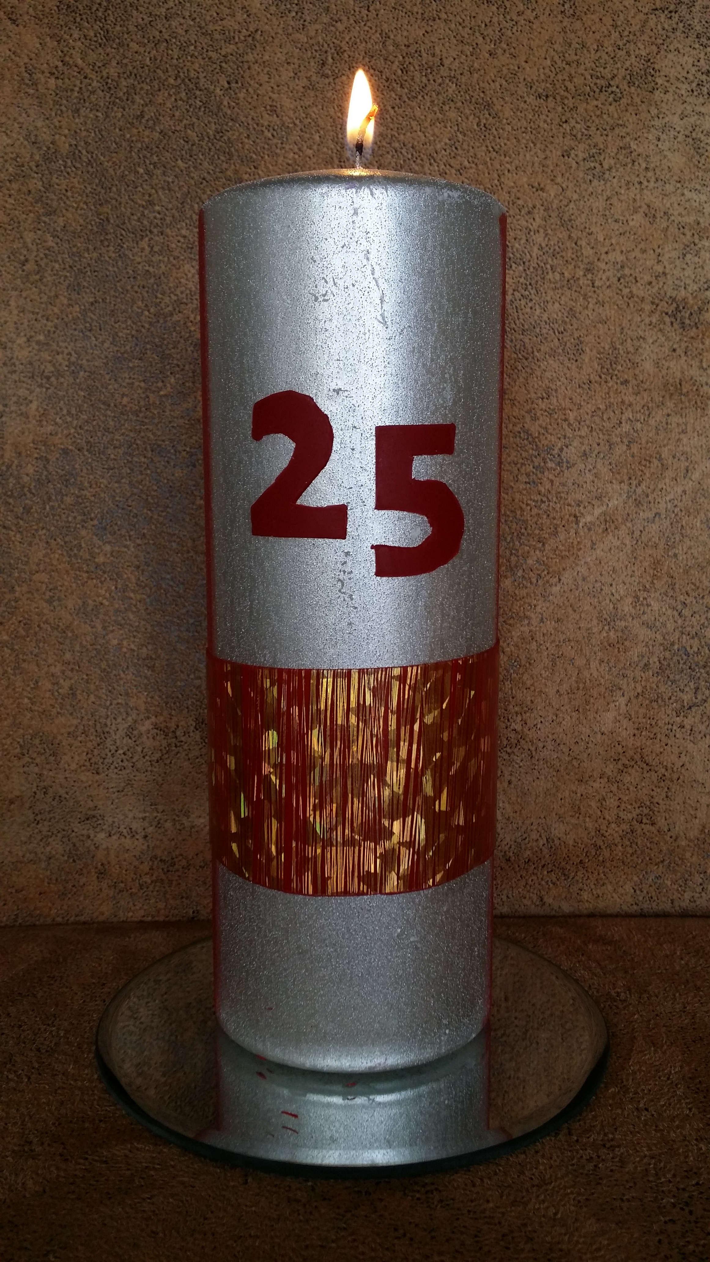 25 Jahre Kerze